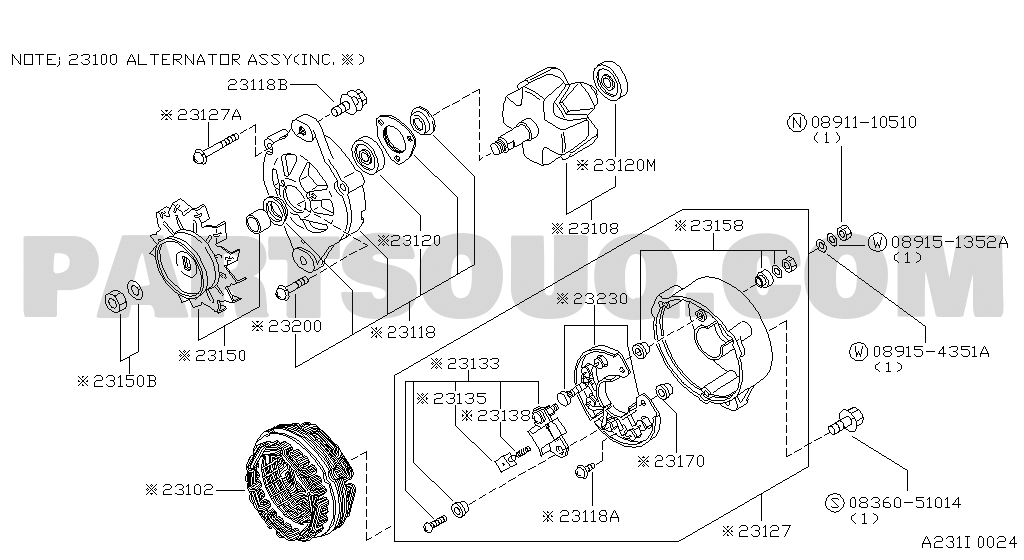Nissan Alternator Wiring Diagram Database