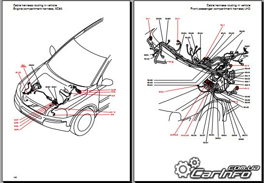 Ae 2044  Volvo V70 Xc70 V70r Xc90 Electrical System And Wiring Diagram 2004 Wiring Diagram
