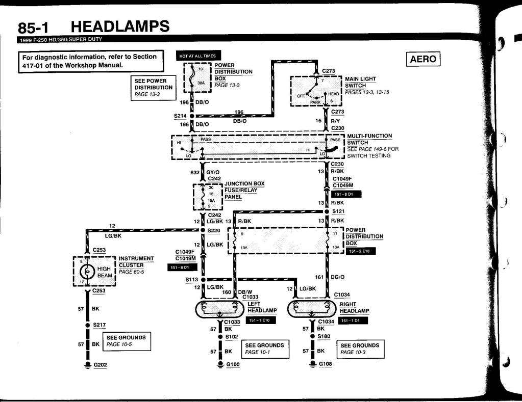 2003 Ford F250 Headlight Wiring Diagram