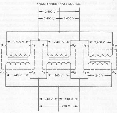 Marvelous Single Phase Transformers Connected In Delta Wiring Cloud Hemtshollocom