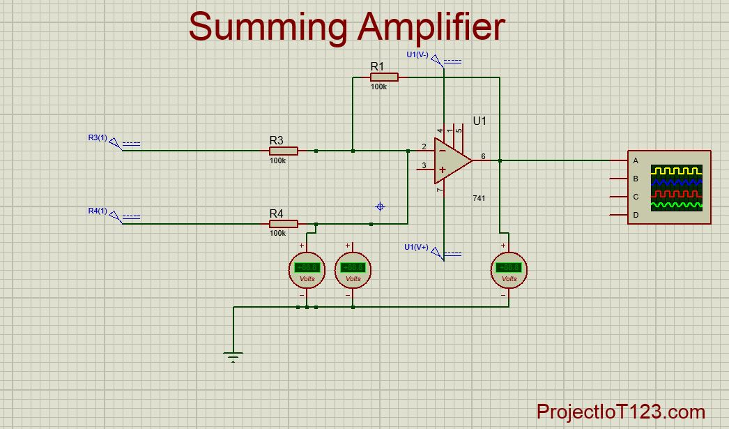 Strange Operational Amplifier As The Summing Amplifier Projectiot123 Wiring Cloud Picalendutblikvittorg