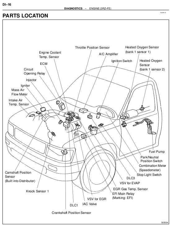 Lv 5317  Toyota 4runner Oxygen Sensor Location Download