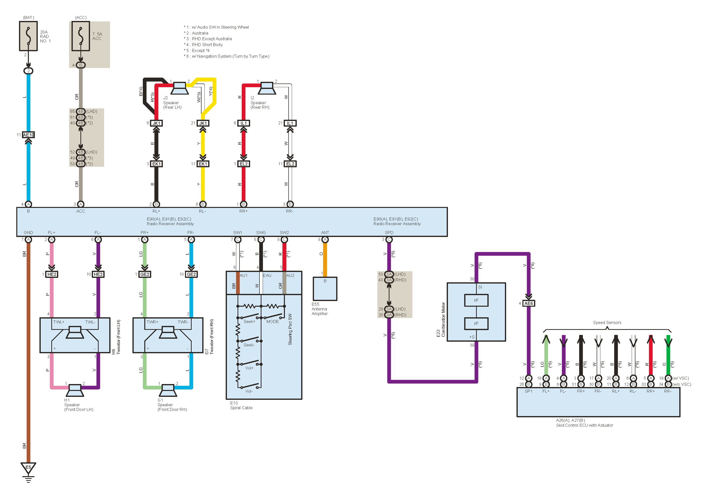 Highlander Stereo Wiring Diagram - Wiring Diagram