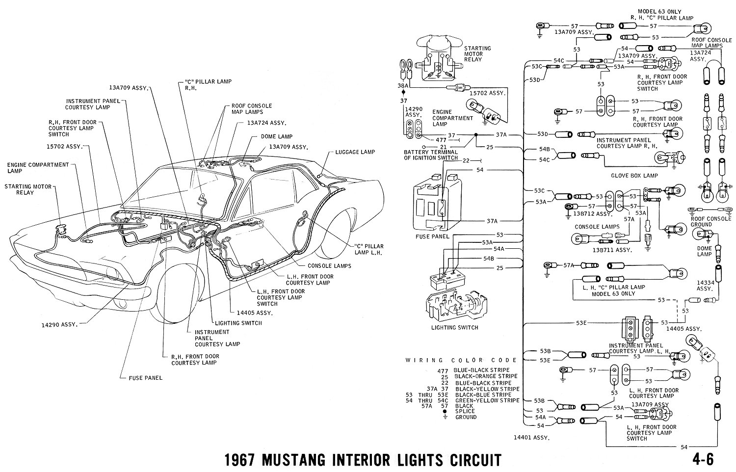 Wondrous 1967 Mustang Wiring And Vacuum Diagrams Average Joe Restoration Wiring Cloud Itislusmarecoveryedborg