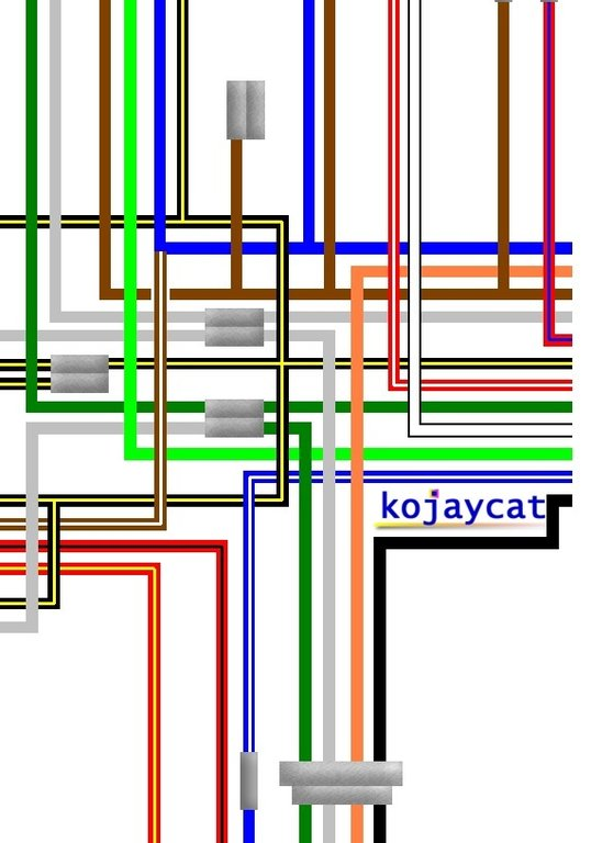 Brilliant Kawasaki Kh250 S1 S1A S2 S2A Uk Spec Colour Wiring Loom Diagram Wiring Cloud Histehirlexornumapkesianilluminateatxorg