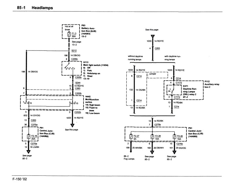 Peachy Headlight Wiring Diagram Ford F150 Forum Community Of Ford Wiring Cloud Orsalboapumohammedshrineorg