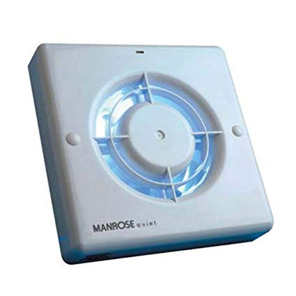 Swell Manrose Qf100T Quiet Extractor Fan With Timer For 4 100Mm Duct Wiring Cloud Hemtshollocom