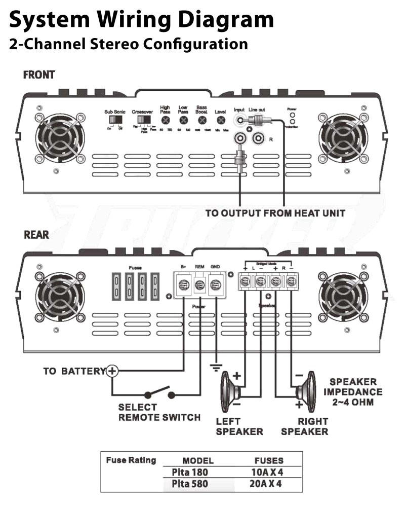 Sony Xplod Sub And Amp Wiring Diagram - Wiring Diagram