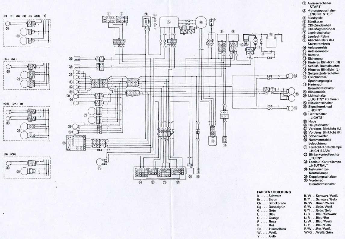 1986 Yamaha Xt 600 Wiring Diagram