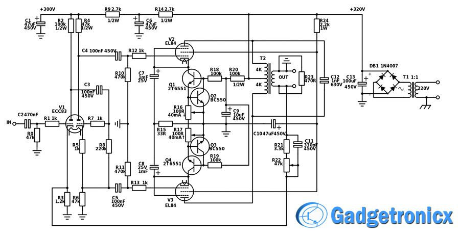 Terrific 17 Watt Hi Fi Vacuum Tube Amplifier Electronic Projects Vacuum Wiring Cloud Icalpermsplehendilmohammedshrineorg