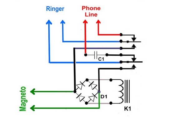 AC_5216] Figure 1 The Basic Wall Phone Diagram Of A Magneto Circuit  Download Diagram