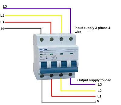 4 pole 4 wire diagram ez 4172  three phase circuit breaker wiring diagram  three phase circuit breaker wiring diagram