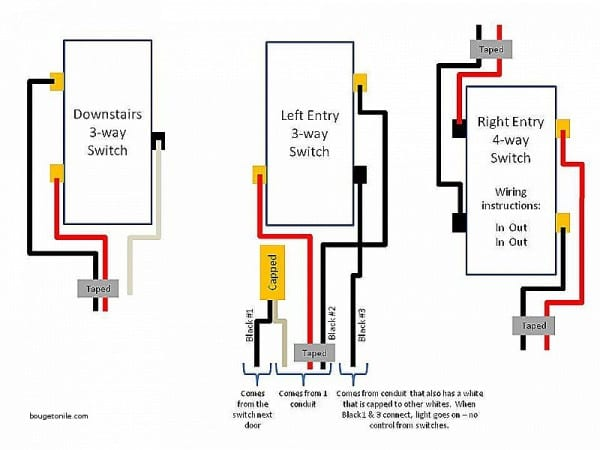 leviton 3 way rotary dimmer switch wiring diagram  led