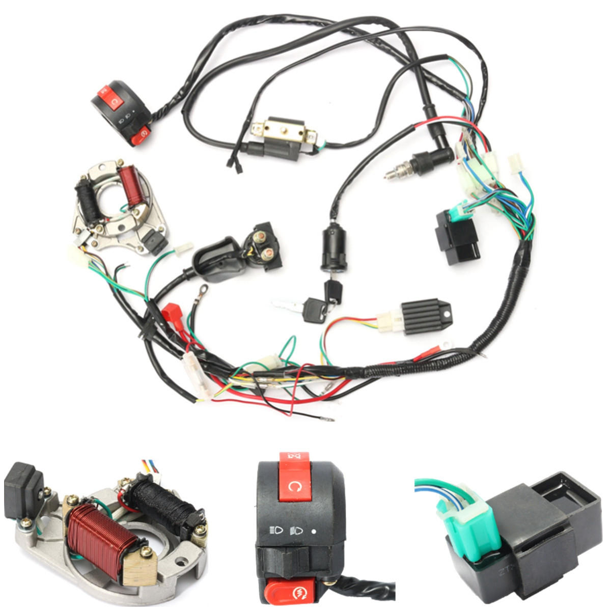 Prime 50Cc 70Cc 90Cc 110Cc Cdi Wire Harness Assembly Wiring Kit Atv Wiring Cloud Picalendutblikvittorg