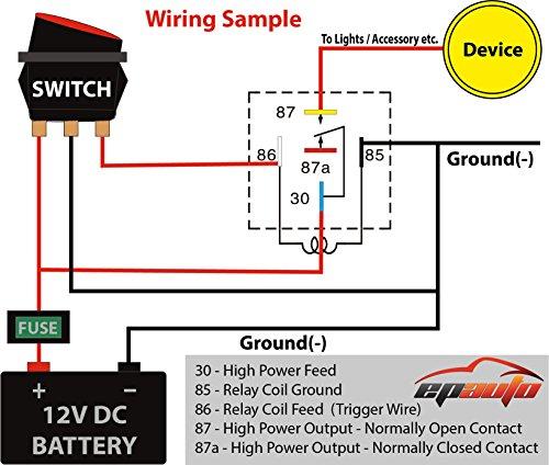 Tremendous Amazon Com 4 Pack Epauto 30 40 Amp Relay Harness Spdt 12V Bosch Wiring Cloud Staixaidewilluminateatxorg