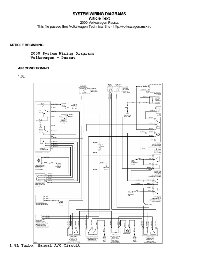 Wiring Diagram Vw Passat 2006