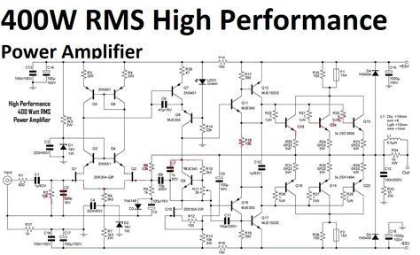 Sb 2095 High Quality Power Amplifier Amplifier Circuit Design Download Diagram