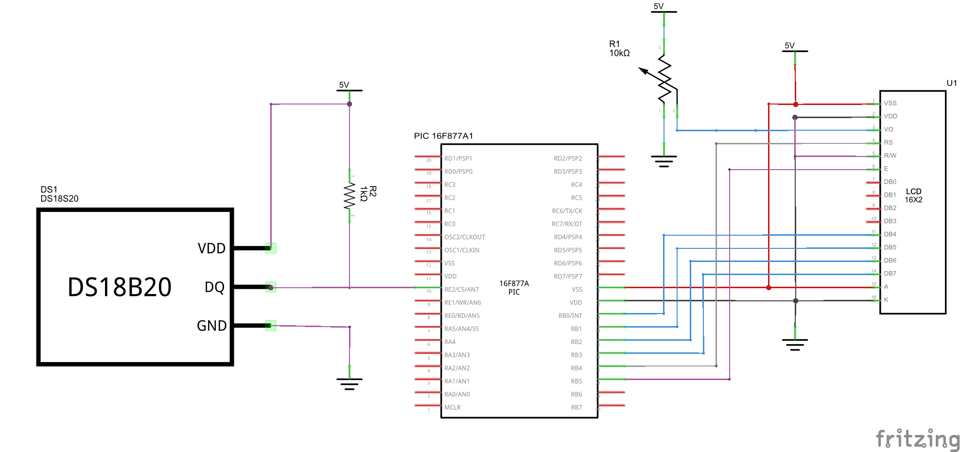Surprising Pic16F877 And Ds1820 Temperature Sensor Example Pic Learning Wiring Cloud Hemtegremohammedshrineorg