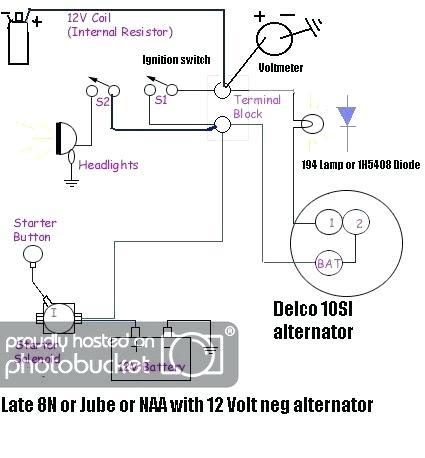 Or 1973 Volt Wiring Diagram Farmall 12 Volt Delco 10si Single Wire Conversion Download Diagram