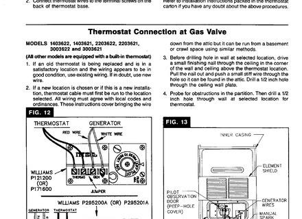 Williams Thermostat P322016 Wall Furnace Wiring Diagram - 1975 Camaro Wiring  Diagram - contuor.yenpancane.jeanjaures37.fr | Williams Wall Heater Wiring Diagram |  | Wiring Diagram Resource