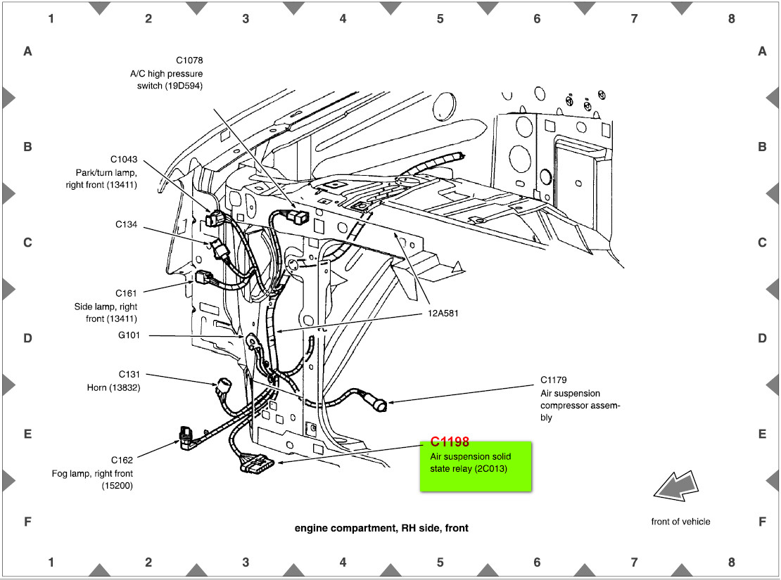 2004 Lincoln Navigator Air Suspension Wiring Diagram
