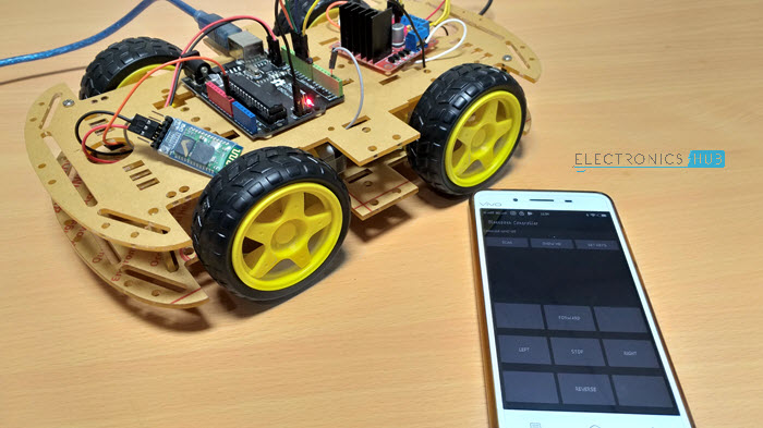Stupendous Bluetooth Controlled Robot Using Arduino Using Arduino Hc 05 L298N Wiring Cloud Licukshollocom