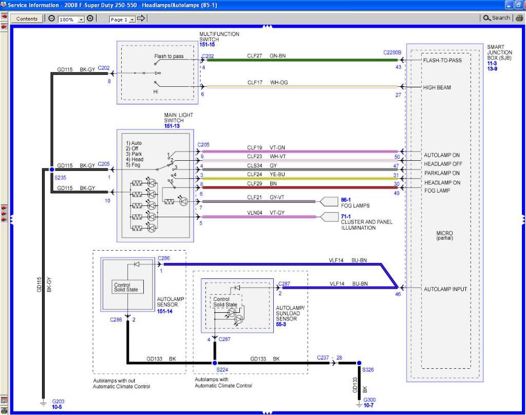 2006 Ford F250 Headlight Wiring Diagram