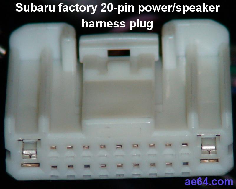 Fabulous Subaru 20 Pin Radio Harness Pin Out Wiring Cloud Rineaidewilluminateatxorg