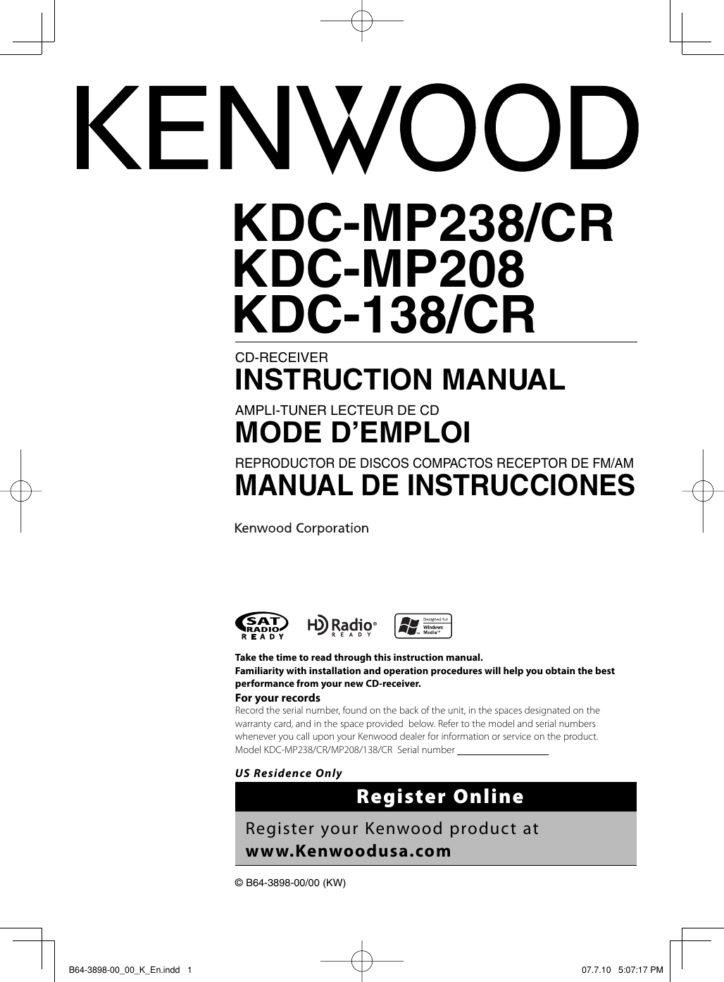 Kenwood Kdc 138 Wiring Diagram Manual