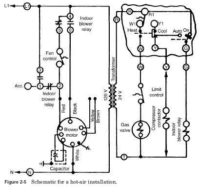 zz2514 generic electric furnace fan relay wiring diagram