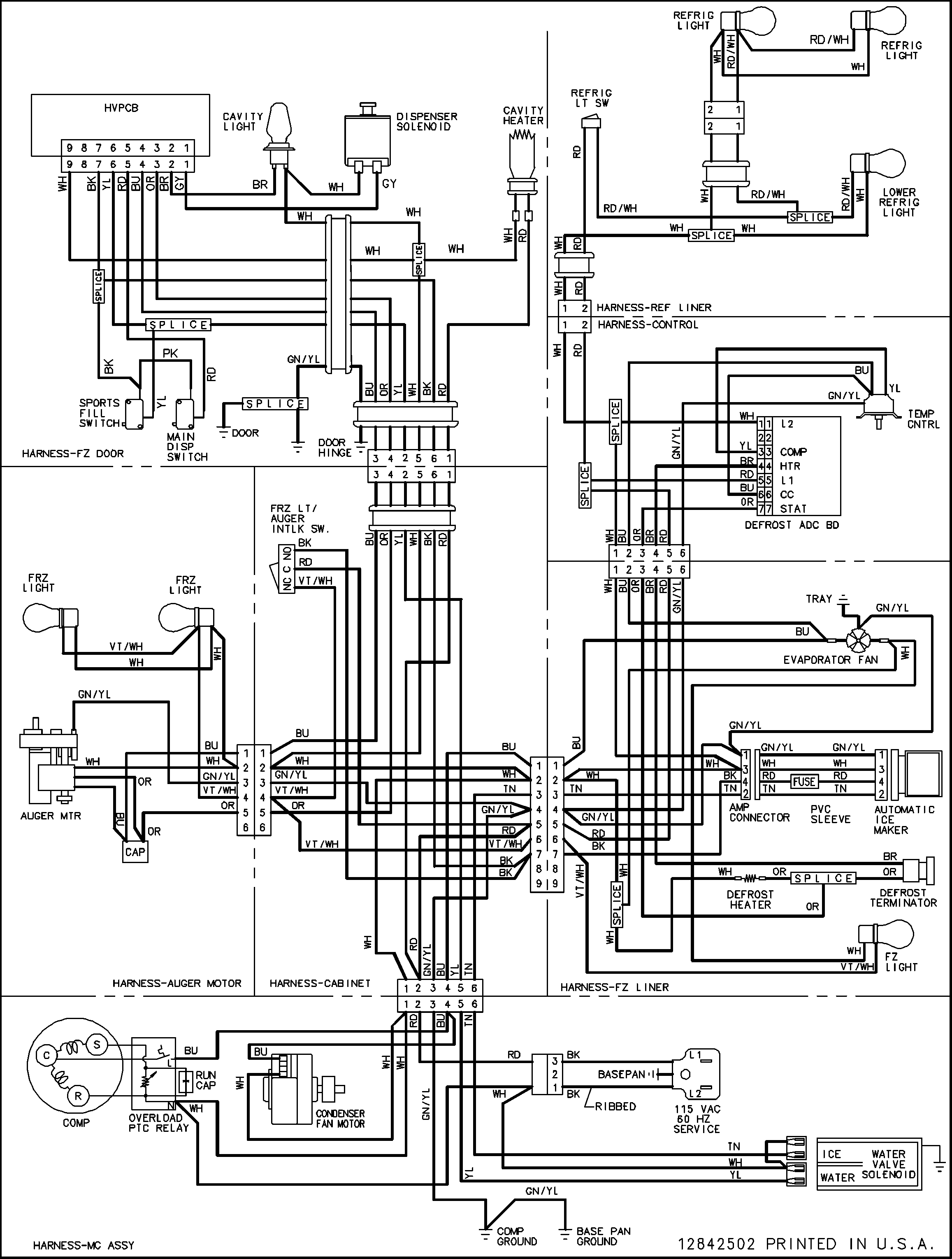 Maytag Refrigerator Ice Maker Wiring Diagram
