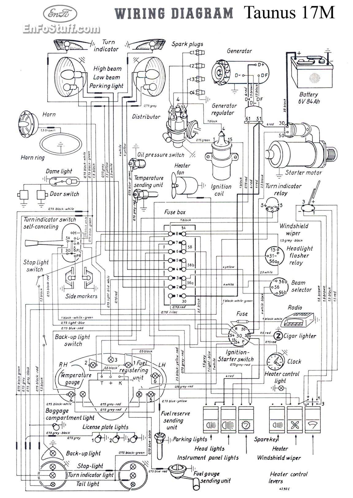 Dw 0992 1958 Vw Van Wiring Diagram Schematic Wiring