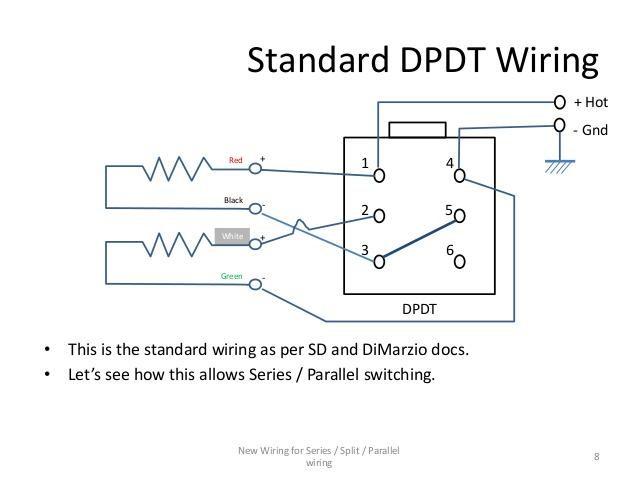 Enjoyable Series Parallel Wiring Diagram For 4 Conductor Humbucker Pickups Wiring Cloud Rometaidewilluminateatxorg