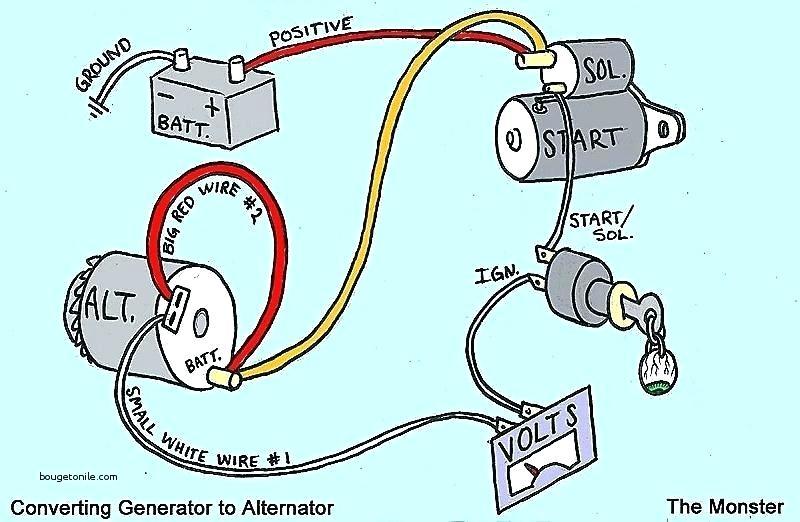 Az 3342 Single Wire Alternator Conversion Diagram Schematic Wiring