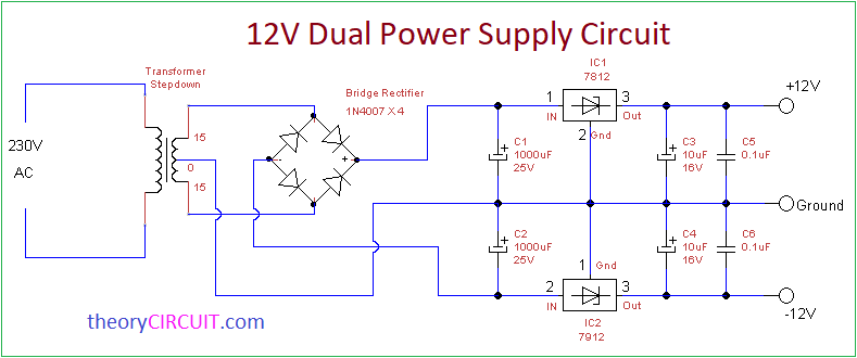 Superb Dual Power Supply Circuit Wiring Cloud Eachirenstrafr09Org