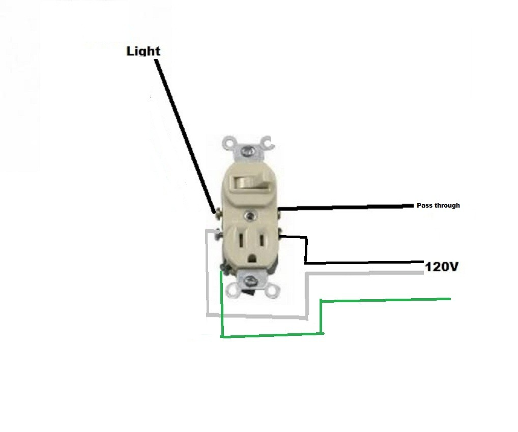 Xs 1674 From Light To Receptacle Switch Wiring Diagram Wiring Diagram