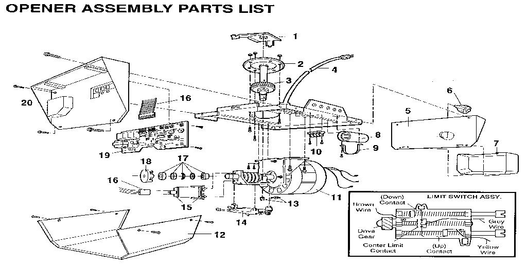 ek5585 garage door opener wiring diagram further sears