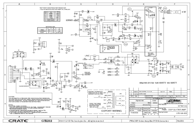 Wiring Diagram Crate Gx-65