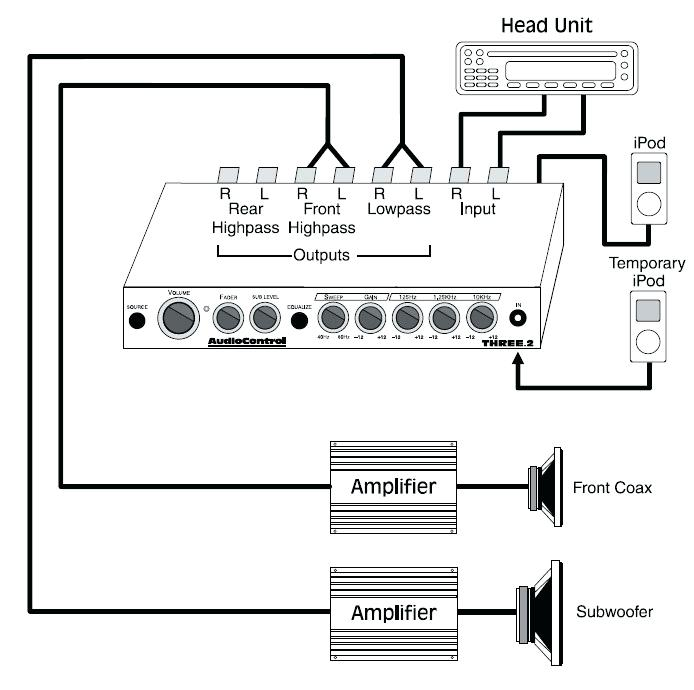 amp wiring diagram for automotive stop lights 4 wire wiring