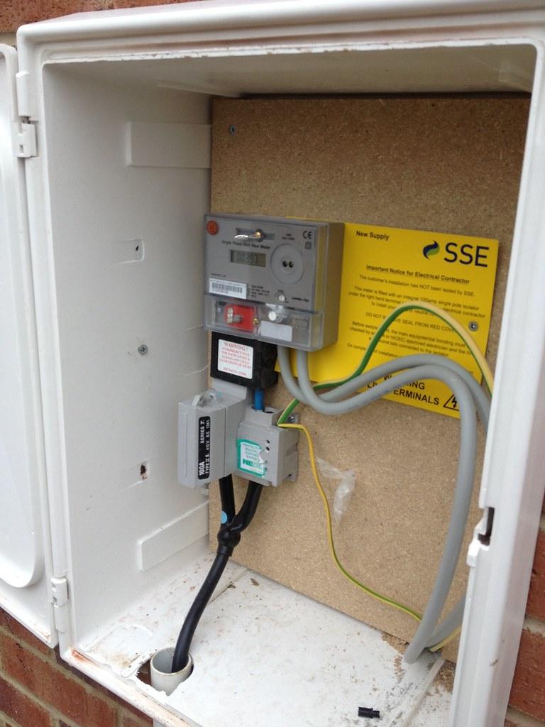 Fine New Electric Meter From Sse External Meter Box And New Met Flickr Wiring Cloud Cranvenetmohammedshrineorg