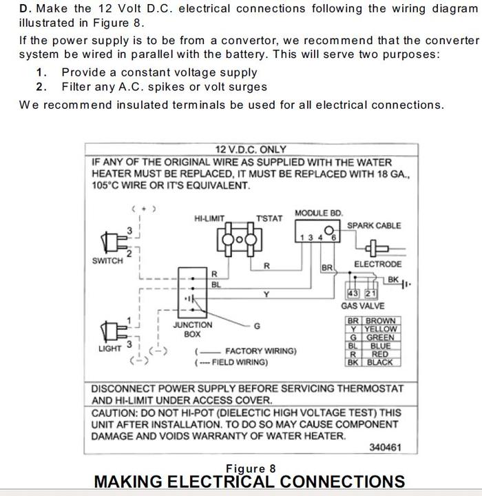 suburban rv water heater sw6de wiring diagram trim pot