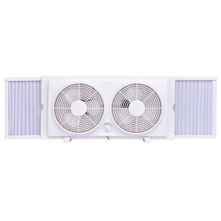 Tremendous Costway 7 Dual Blade Twin Window Fan 2 Speed Setting Reversible Wiring Cloud Rometaidewilluminateatxorg