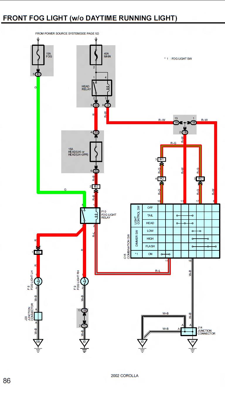 Toyota Celica 2002 Gts Fog Light Wiring Diagram