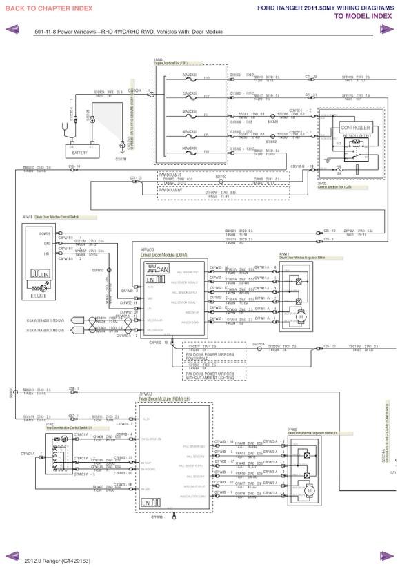 za4197 2011 ford ranger wiring diagram manual original