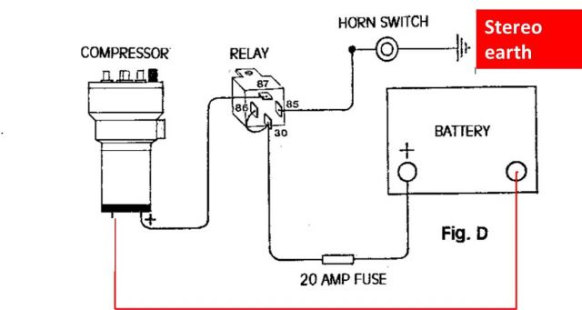 air horn wiring diagram ea 9434  how to wire it for switched the horn wire should  how to wire it for switched the horn