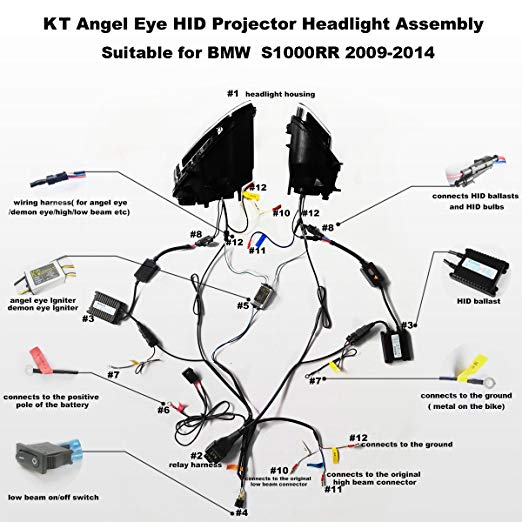 Tremendous Amazon Com Kt Led Strip Light Headlight Assembly For Bmw S1000Rr Wiring Cloud Gufailluminateatxorg