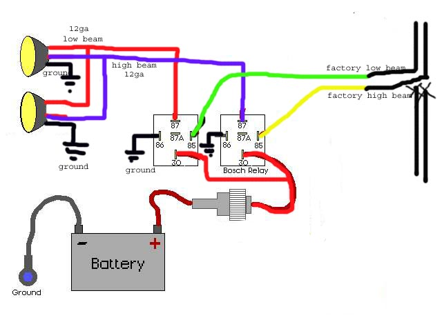 bosch relay wiring diagram fog lights  standard engine