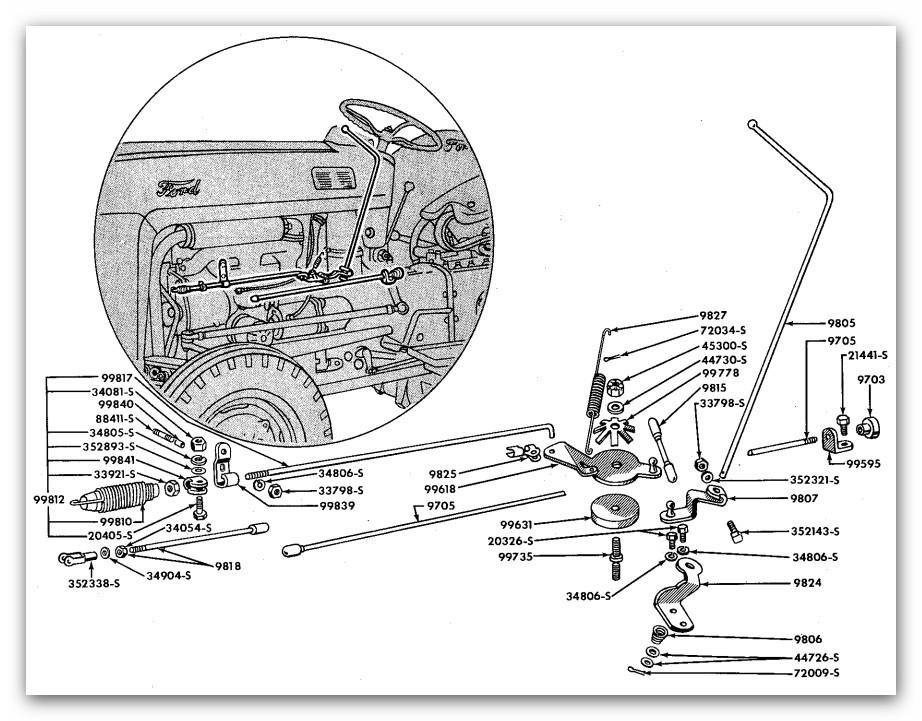 Ford 9n Throttle Linkage Diagram Full, Ford 9n Coil Wiring Diagram