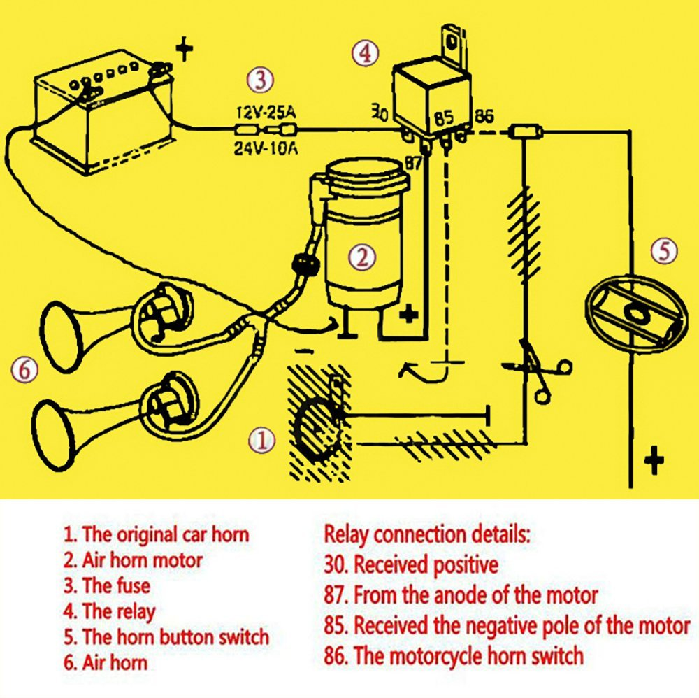 wolo horn wiring diagram ba 1568  boat air horn wiring diagram download diagram  ba 1568  boat air horn wiring diagram