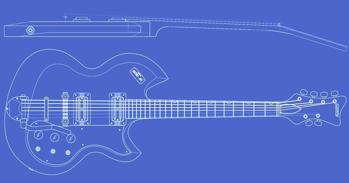 Fabulous Gretsch Astro Jet Guitar Templates Guitar Templates Guitar Wiring Cloud Hemtshollocom